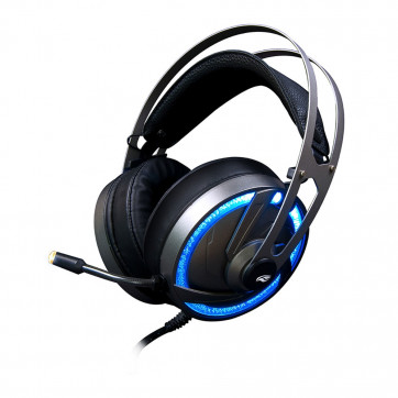 Headset Gamer USB Microfone P2 Preto com LED RGB Prata PH-G300SI C3TECH