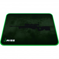 Mouse Pad Médio com Bordas Costuradas Gaming Sniper Verde Rise Mode