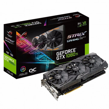 Placa de Vídeo NVIDIA Asus Rog Strix GeForce GTX 1080 TI 11GB DDR5 352 Bits