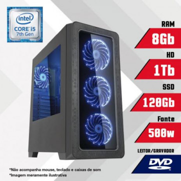 PC Gamer Intel Core i5 7ª Geração 8GB HD 1TB SSD 120GB CertoX BRAVE 5008