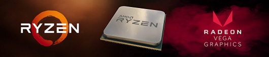 AMD Ryzen 5 3400G Placa de Video Radeon Vega 11 Integrada
